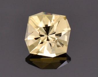 Beautiful Precision Cut Yellow Scapolite Gemstone, 2.87 cts., 9.3 mm., Custom Square Cushion Cut