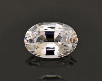 Gorgeous Brilliant White Sri Lankan Sapphire Gemstone 1.17 cts.