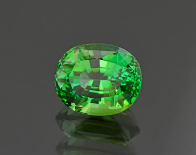 Spectacular Bright Green Tourmaline Gemstone from Namibia 6.62 cts