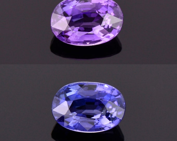 SALE! Beautiful Color Change Sapphire Gemstone from Sri Lanka, 0.96 cts., 6.5x4.4 mm., Oval Shape