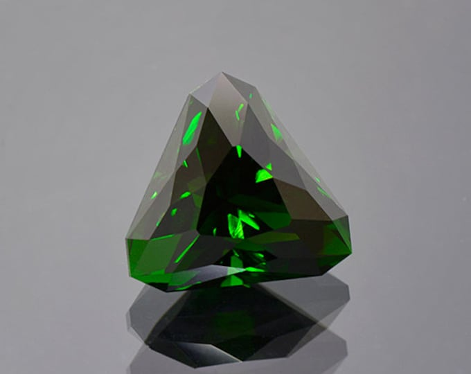 Large Deep Green Chrome Tourmaline Gemstone from Tanzania 17.91 cts