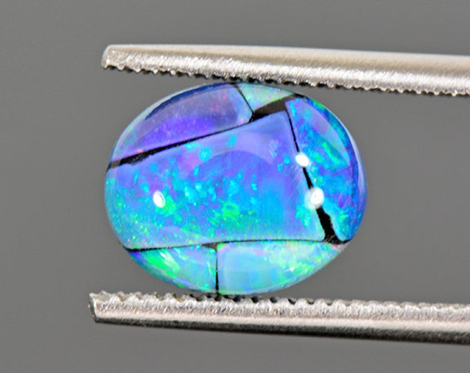 Stunning Mosaic Opal Triplet Cabochon from Australia 2.77 cts.