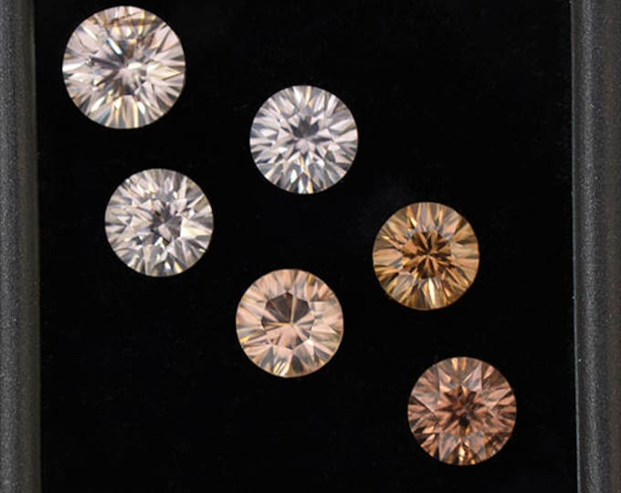 Exquisite Silvery Zircon Gemstone Set from Australia 9.28 tcw.