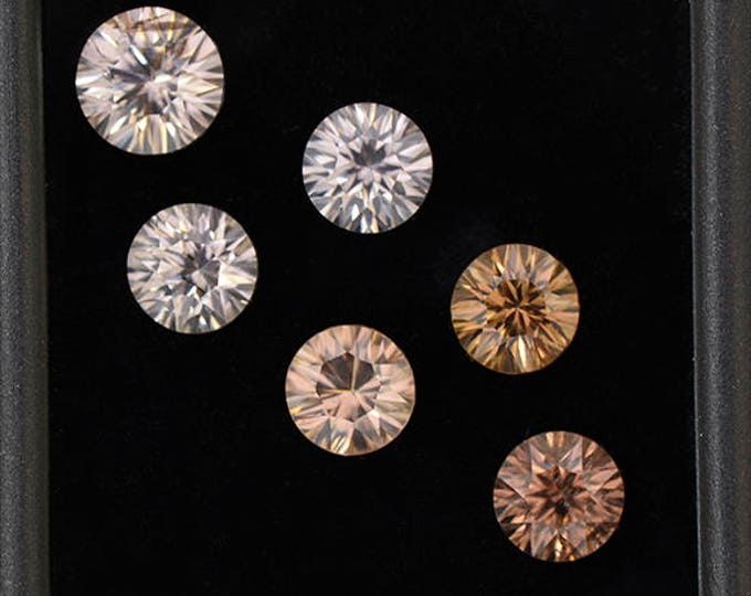 SALE! Exquisite Silvery Zircon Gemstone Set from Australia 9.28 tcw.