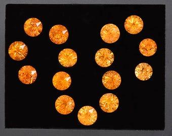 Stunning Orange Spessartine Garnet Gemstone Bracelet Set 18.78 tcw.