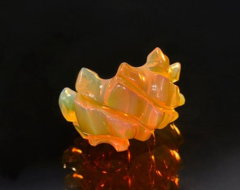 SALE! Top Notch Hand Carved Orange Opal from Ethiopia 11.28 cts
