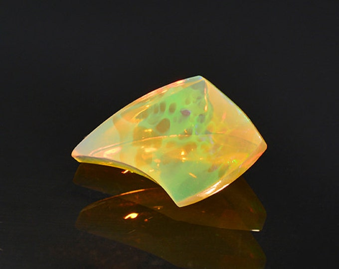 HOLIDAY SALE! Fantastic Multicolor Carved Opal Gemstone from Ethiopia 3.96 cts
