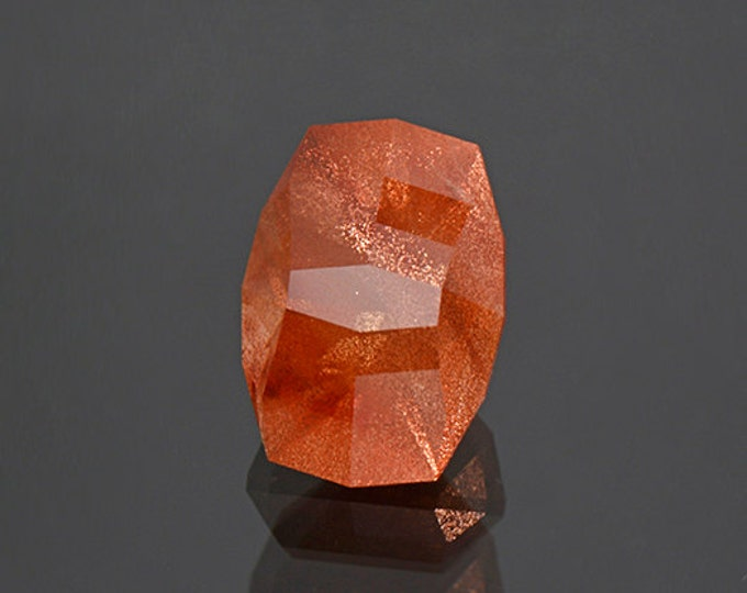 Custom Copper Shiller Sunstone Gem from Oregon 8.46 cts