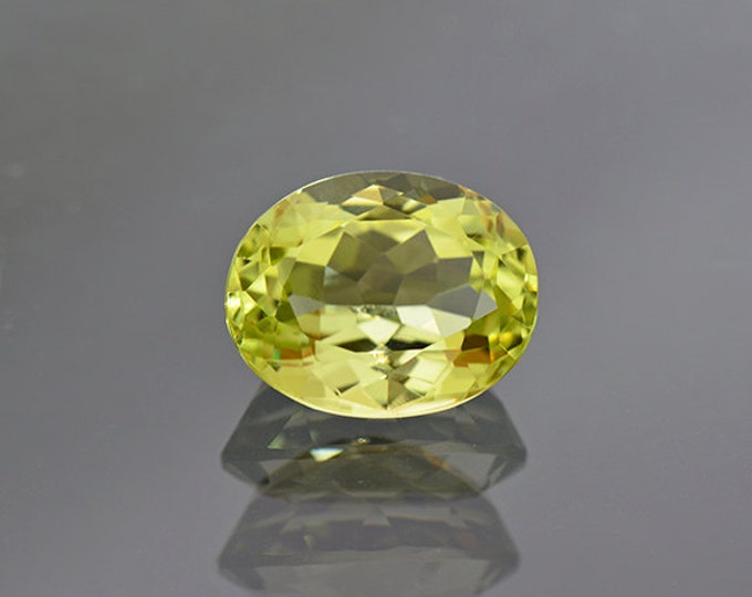Beautiful Rare Yellow Green Sillimanite Gemstone from India 6.03 cts