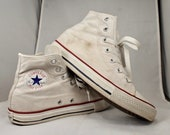 Very Cool White Canvas Chuck Taylor Converse All Stars, Size 3US Men 39 s, 5US Women 39 s