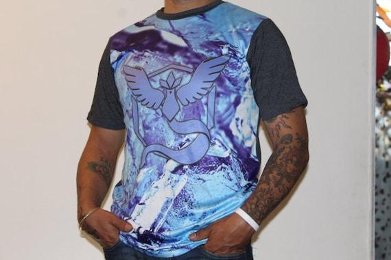cabeae47 Pokemon Go Team Mystic Sublimated Made in USA Tee Shirt Adult | Etsy