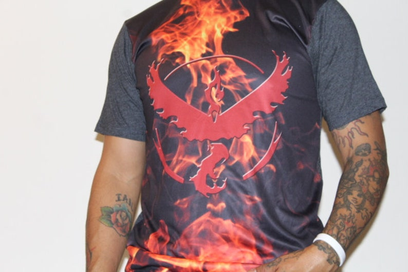 625fb269 Pokemon Go Team Valor Sublimated Made in USA Tee Shirt Adult | Etsy
