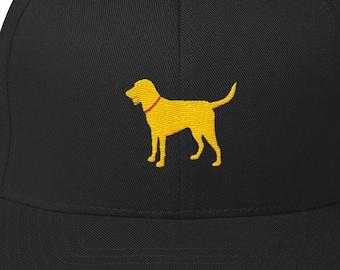 545f8fe6f3e Labrador Retriever Fetch Yellow Lab Play Ball Hat Structured Twill Cap