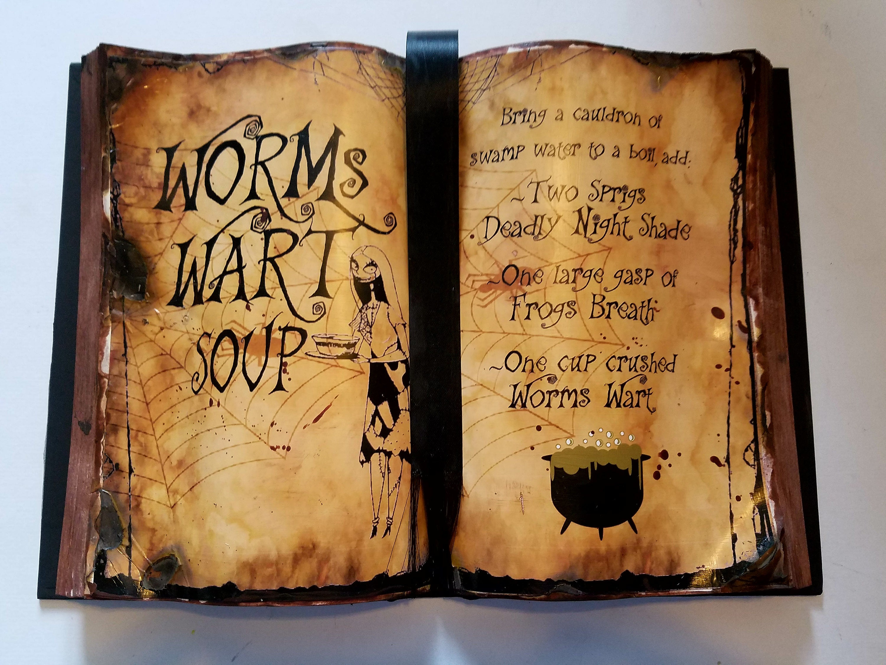 Worms Wart Soup Spell Book Nightmare Before Christmas | Etsy