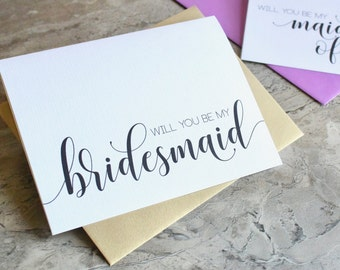 Will you be my Bridesmaid Cards - Gold Wedding Cards - To My Bridesmaid, Bridal Cards- Bridesmaid Card, Maid of Honor EL217