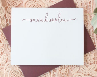 Personalized Notecard Flat Notecards Personalized Stationery Ella Tribal Monogram. Note Cards Notecards