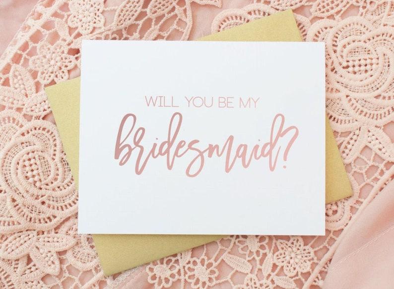 Will you be my Bridesmaid Card  Bridesmaid Card  Bridesmaid image 0