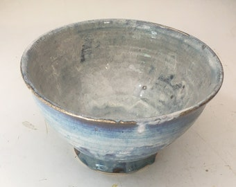 "9"" Stoneware Blue-White Bowl - BOWL59BlWh0G"