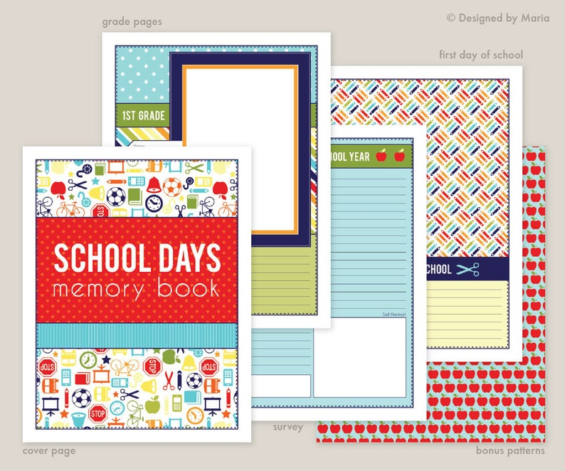 image relating to Preschool Memory Book Printable identify College or university Memory E-book Printables: Preschool - 5th Quality College Times Guide - 8.5 x 11 inches - Quick Obtain - Quality Web site, Study, 1st Working day