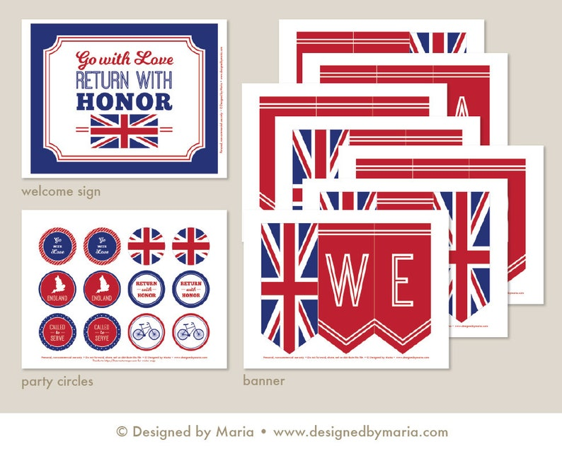 picture regarding Printable England Flag known as LDS England Mission Farewell Celebration Printable Mounted: Missionary Celebration Package Downloads - English Flag Banner, Decorations, Indicator, Cupcake Toppers