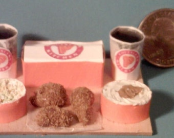 Barbie Sized Popeye's Chicken Food Display Board