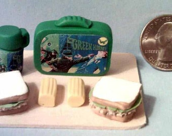 Barbie Sized vintage lunch box set The Green Hornet