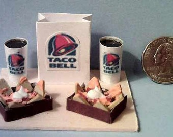 Barbie And American Girl Sized Taco Bell Nacho Bell Grande Food Display Board