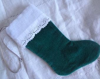 Mini Stocking Christmas Tree Ornament Small Stocking - Atlantic Rock Threads