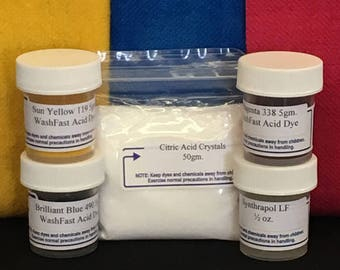 FREE SHIPPING - WashFast Acid 3 Dye Samplers
