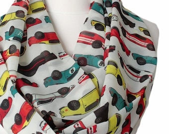 Classic Racing Cars Infinity Scarf Retro Cars Gift For Her Wife Fashion Accessories