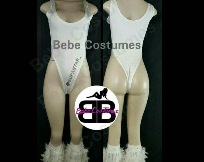 Bebe Costumes Exotic Dancewear Made2Order Sexy One PC. Piece/ Onesie / Bodysuit w/fridge leg warmers (OnePieceFridgeLegs)
