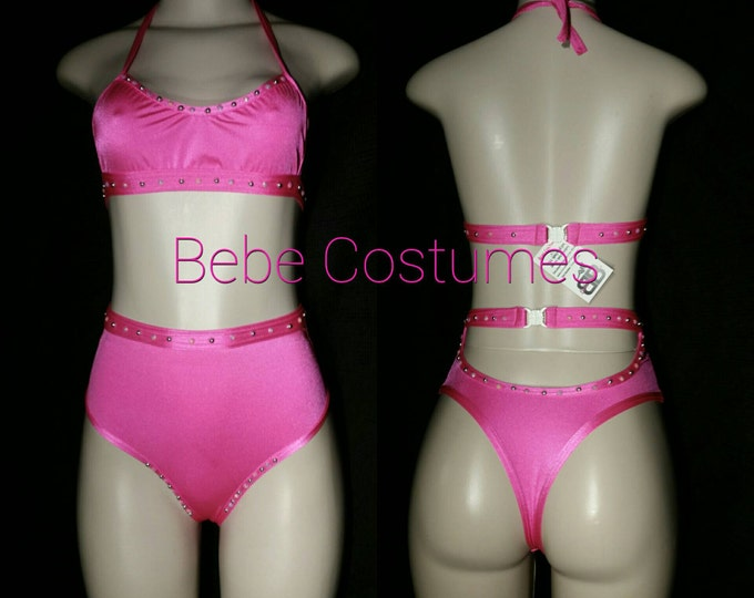 Bebe Costumes Exotic Dancewear Highwaist with sexy top *Made To Order*