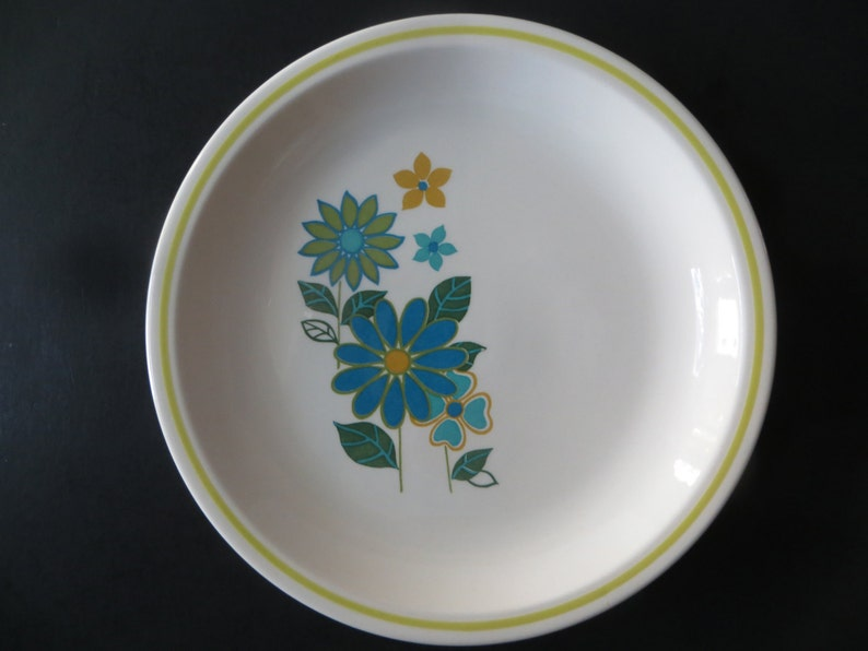 Rare Taylor Smith Taylor Lime Clarion 3 Dinner Plates 3 Salad Plates
