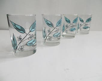 Mid Century Salem Biscayne Juice Glasses Set of 4