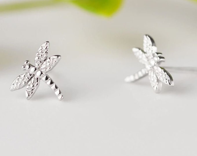 Dragonfly Sterling Silver 925 Stud Earrings for Women Girls Fashion Jewelry