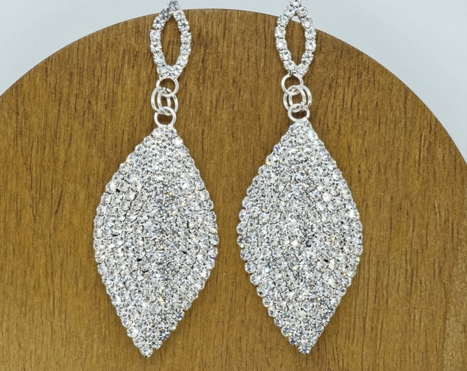 Crystal bridesmaid wedding earrings perfect jewelry gifts