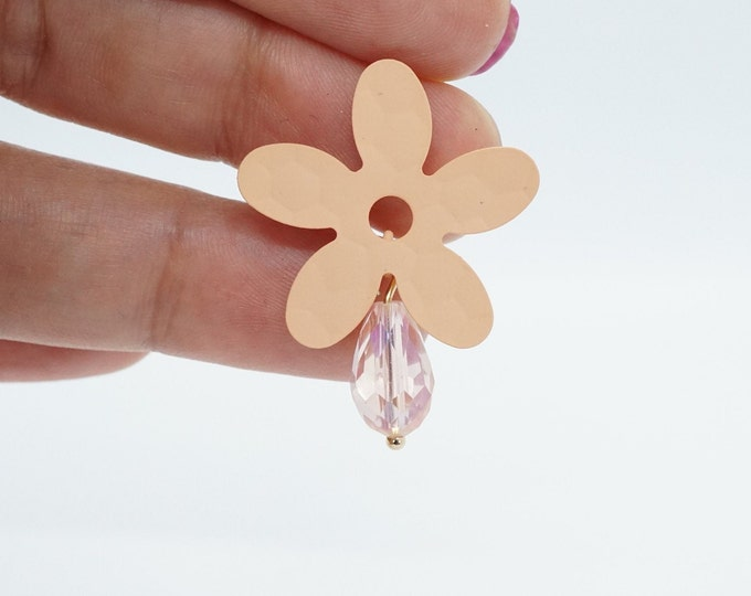 Coral Flower Dangle Drop Korean Earring For Women