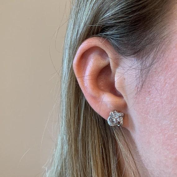 Luxury Silver Stud Earrings