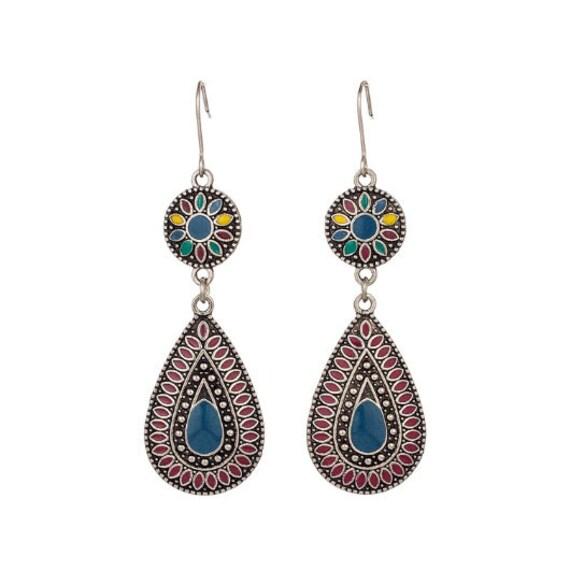 Teardrop Boho Earrings // Ethnic Earrings