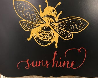Chalk art bee sunshine chalkboard
