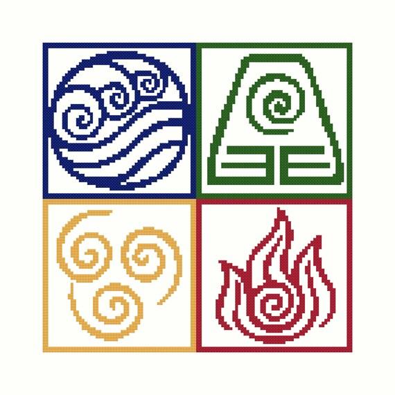 Avatar Nation Symbols Cross Stitch Pattern Etsy