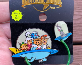 Vintage 2 34  The Jetsons The Movie 1990 Button Pin