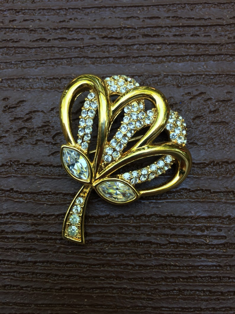 587483313d2 Vintage Jewelry Signed Monet Stunning Rhinestone Gold Tone   Etsy
