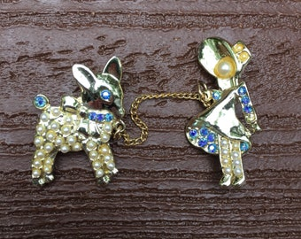 Vintage Jewelry Absolutely Adorable Mary had a Little Lamb Pin Brooch