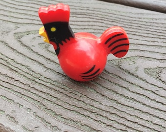Vintage Fisher-Price Little People Rooster for Farm 1st Version NO HOLE