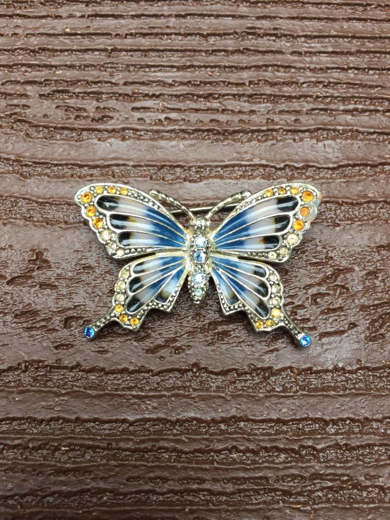 17a3e593735 Vintage Jewelry Signed Monet Beautiful Enamel & Rhinestones   Etsy