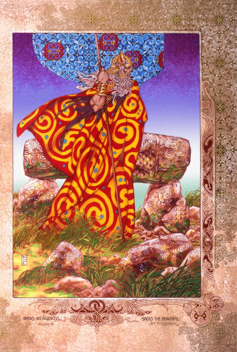 PRINCESS OF ULSTER 8x11 By Jim FitzPatrick CELTIC IRISH FANTASY ART FINNCHEOM
