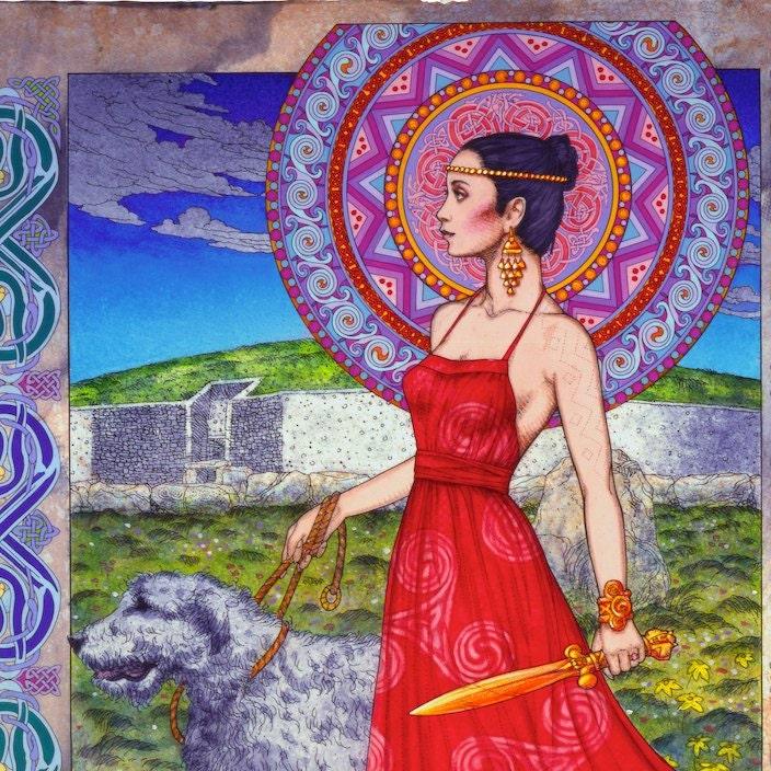 Fine Art Print Celtic Mandala Red Beard Pullers 23x16. Celtic   Celtic Fine Art Prints