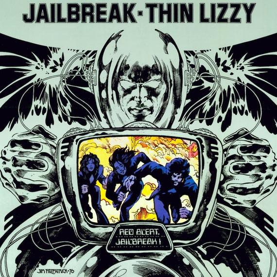 BLACKROSE Album artwork by Jim FitzPatrick 16x11 Print. THIN LIZZY