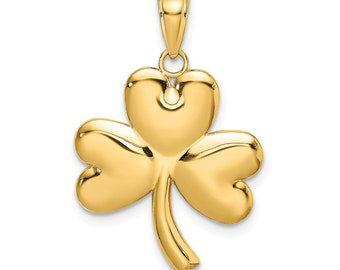10Pcs Good Luck Charm 4 Leaf Clover Pendants for Jewelry Making Silver tone C786